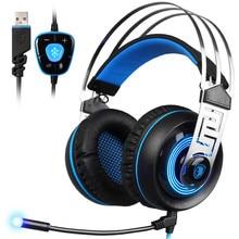 SADES A7 7.1 Stereo Surround Gaming Headset Headband Mic Hea