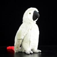 28cm Lifelike African Grey Parrot Plush Toy Realistic Large Macaw Bird Stuffed Toys Soft Kids Toy Birthday Xmas Gifts