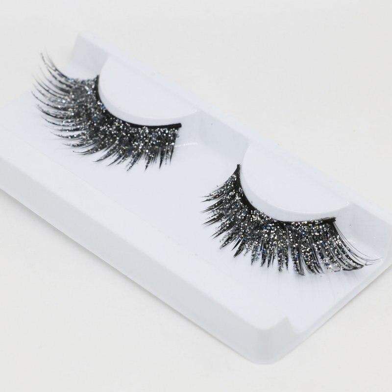 b678ed829bb YOKPN 2 Style Black Gold Glitter False Eyelashes Art Stage Modeling  Performance Makeup Lashes Fashion Exaggerated