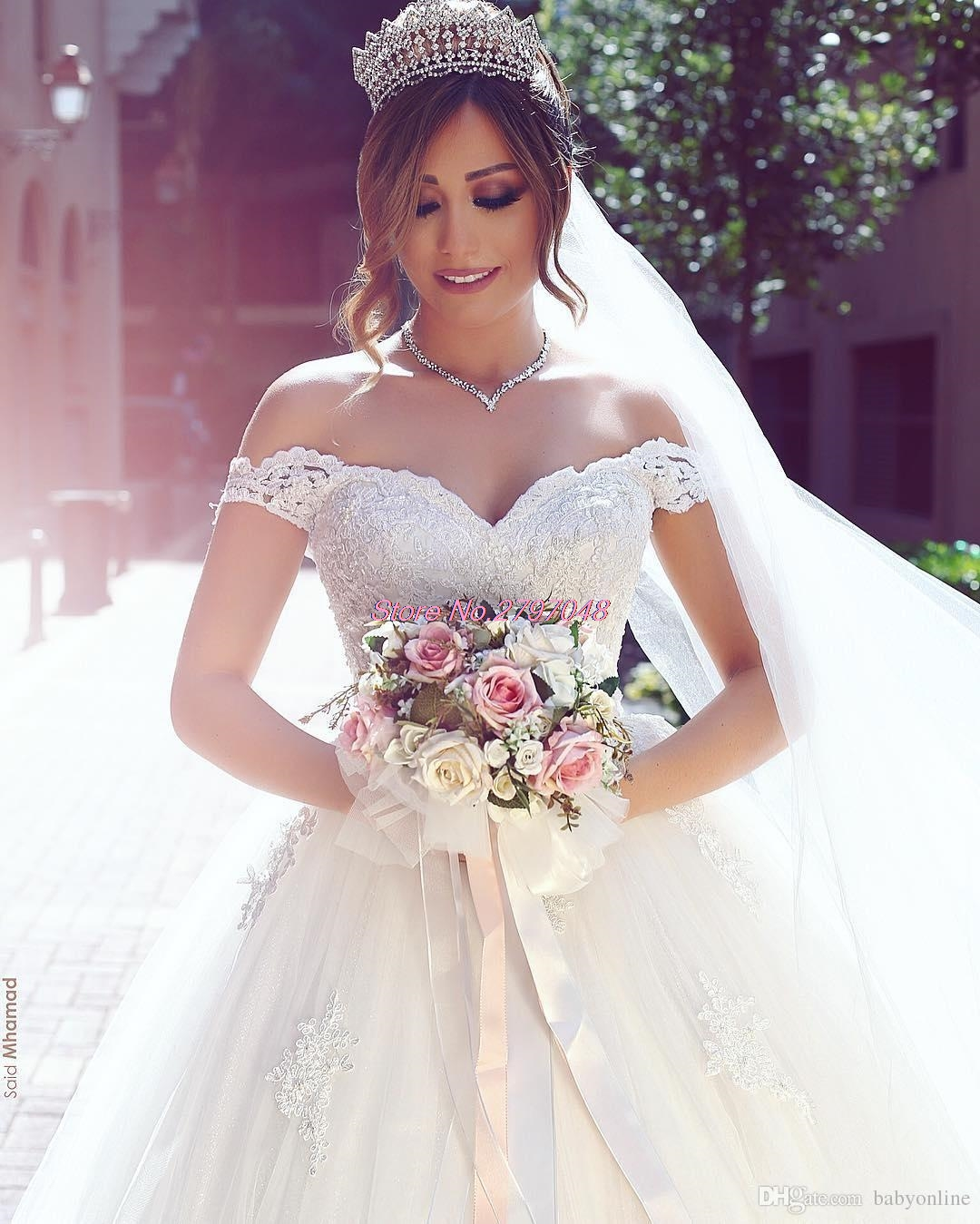 2017 Vestios De Noiva Ball Gown Princess Wedding Dresses Romantic ...