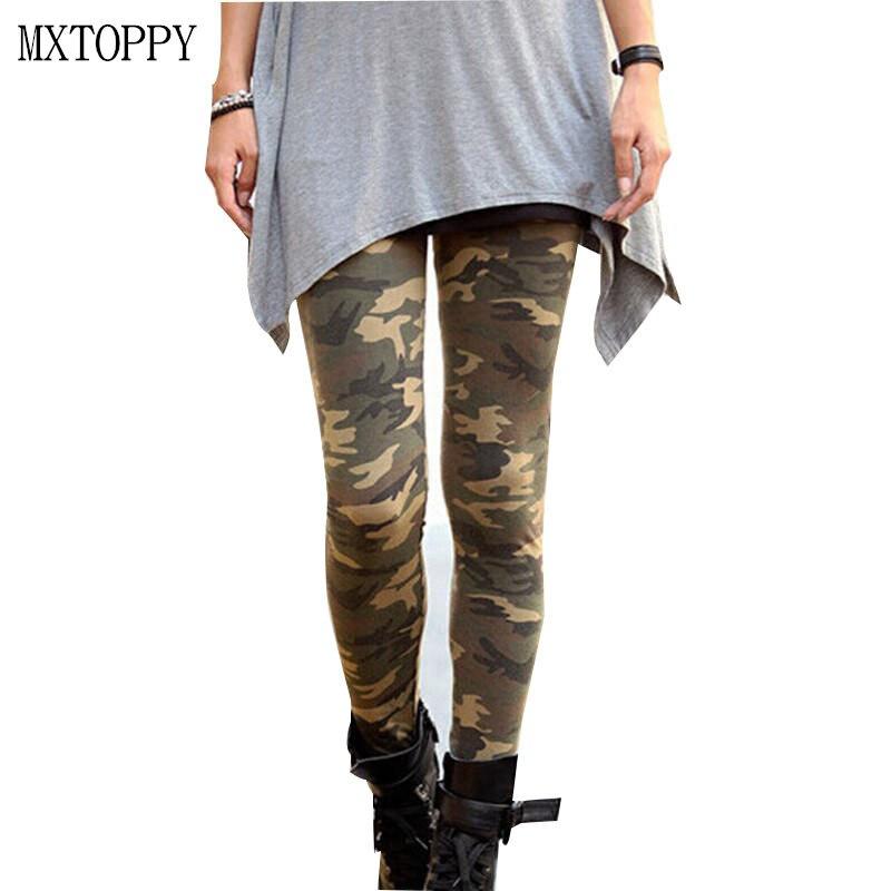 3a041d95876f3 2018 Printemps Été Mode Femmes Legging Pantalon Mince Camouflage Stretch  Pantalon Armée Pantalon Doux Coton de Haute Élastique Pantalon