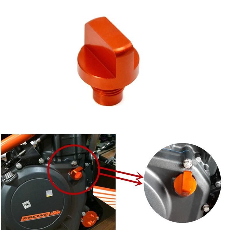 Motorcycle Accessories CNC Orange Aluminum Engine Magnetic Oil Drain Plug For KTM DUKE 125/200/390