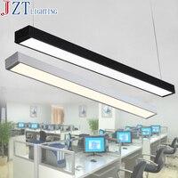 M Black Silver LED Strip Lights Office Classroom Office Chandeliers Modern Fluorescent Long Bar Aluminum Lamp Hanging Lights