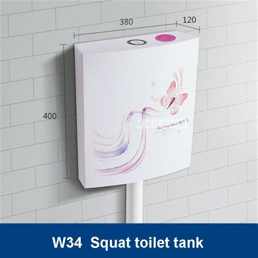 W34 резервуар для воды для дома и ванной комнаты, настенный энергосберегающий резервуар для туалетной воды, аксессуары для промывки, резервуар для воды