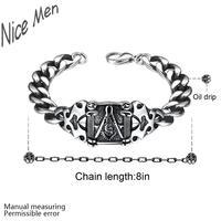 Men cool vintage bangels H029 Fashion 316L stainless steel bracelet for man 4