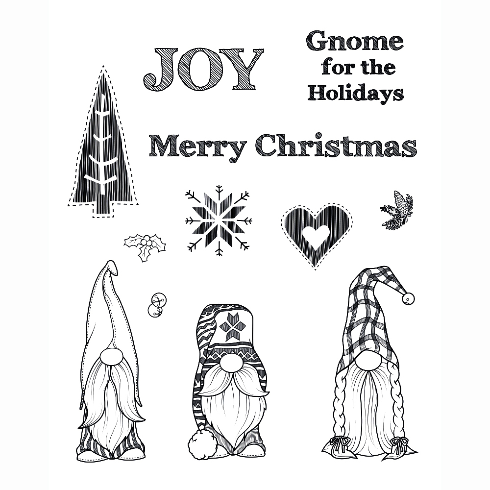 Merry Christmas Transparent Clear Silicone Stamp Seal DIY