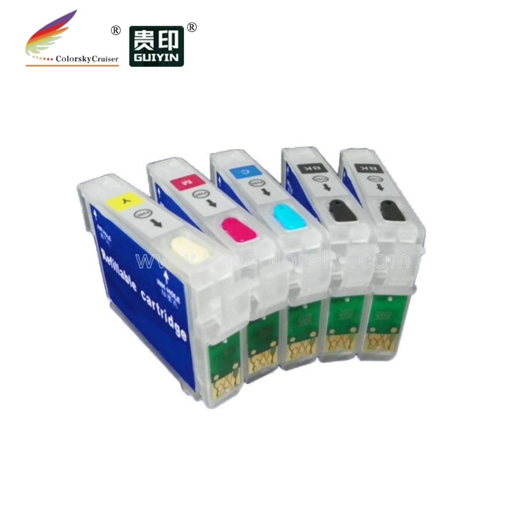 (rce731h-734) Navulbare Refill Inkt Cartridge Voor Epson T0731h T0731 T0732 T0733 T0734 Cx3900 Cx4900 Cx5900 Kkcmy Gratis Verzending Betrouwbare Prestaties
