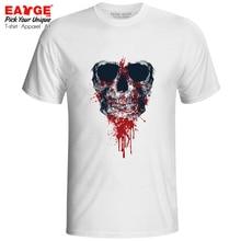 My Bloody Skull T-shirt Dark Evil Art Hip Hop Funk Creative Punk Tattoo T Shirt Style Active Cool Women Men Top Tee my dark places