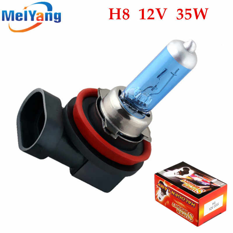 H8 35W Halogen Bulbs super white Headlights fog lamps light running Car Light Source parking 12V High Power auto day