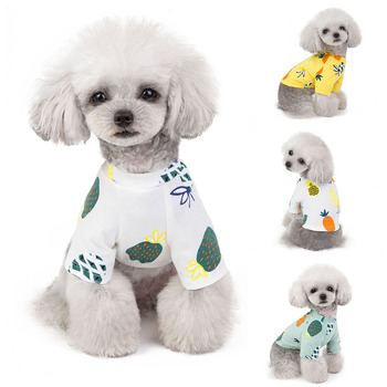 Pets Dog Clothes New Summer Shirt Puppy Pineapple Vest Cat T Shirt For Large Small Dogs Chihuahua Teddy S-XXL 29