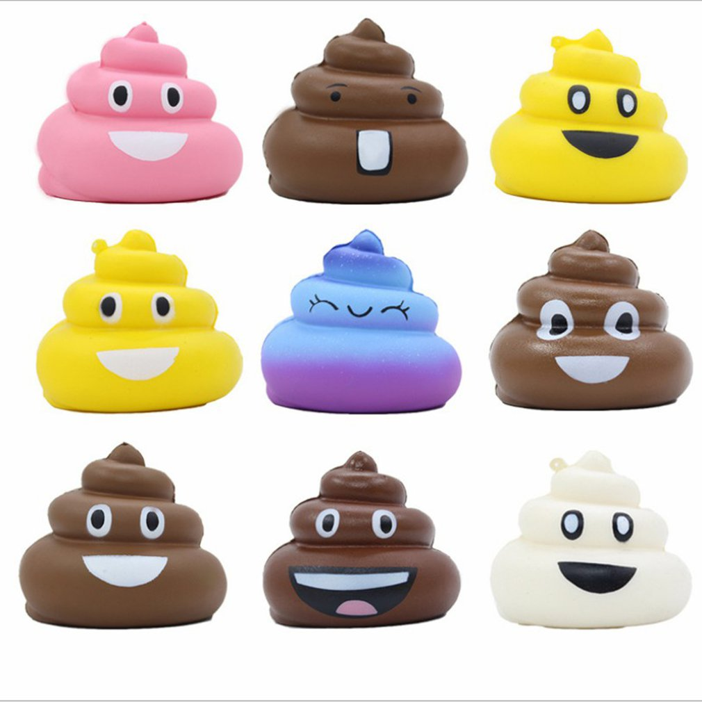 New 8cm Simulation Shit Squishy Cute Expression Stool Slow Rising Toys Soft Squeeze Relief Stress Scented Gifts Toys