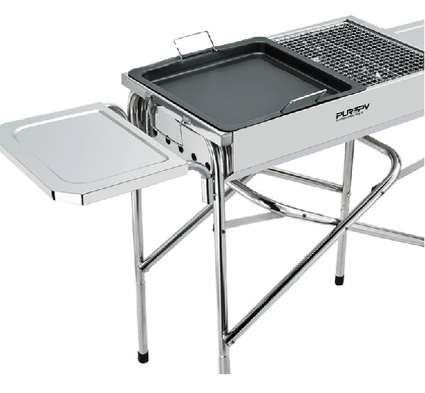 Portable Outdoor Camping Charcoal BBQ Grills Stainless