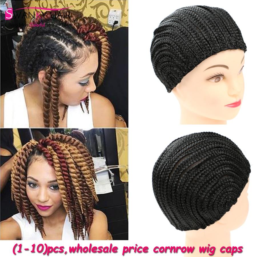 1 10 Pcs Cornrows Wig Caps For Making Wigs Black Cornrows
