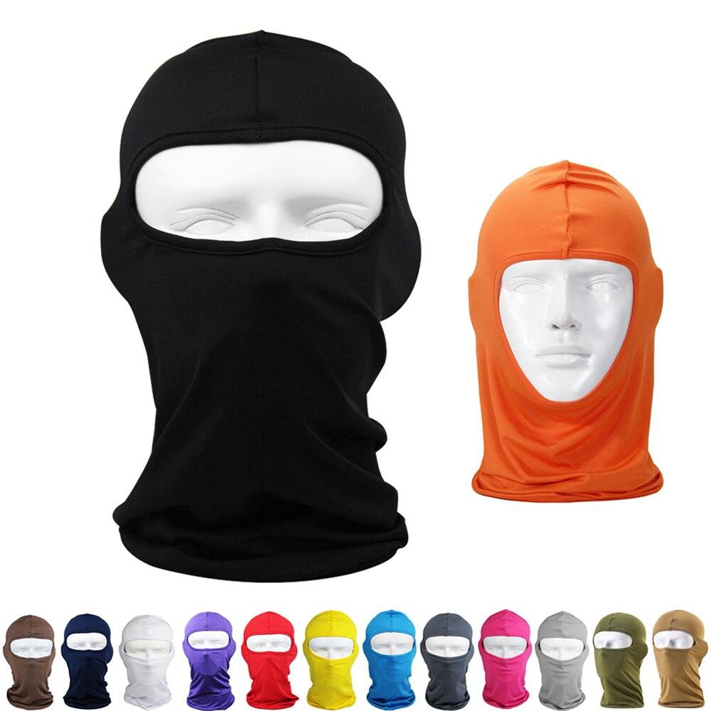 New Balaclava Unisex Men Women Lycra Stretch Face Mask Cover Neck Ski Bike Football Cycling CS Cap Sports Helmet Liner Sun Hat
