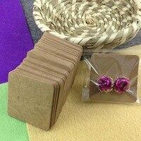 HandMade  Kraft1 Pair Blank Kraft  Earring Card 1lot=200 card +200 opp bag Blank   Jewelry Card  Custom Logo Cost Extra