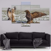 Falcon Animal 5 Piece Canvas HD Print Painting Wall Art For Living Room Modern Decorative