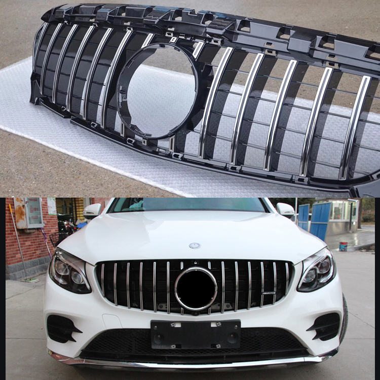 Front grille Suitable for GlC Class W253 GTR 2015-2018 X253 GLC200 GLC250 GLC300 GLC450 GLC63 grille Without central logo golfliath front grille center grill for 2014 2017 mercedes benz w253 x253 glc 200 glc250 glc300 sport glc450 diamond grille