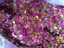 Purple Rose Gold 100g Paille Ultrathin Sequins Mixed Nail Art ROUND Shapes Confetti Acrylic Round Glitter 09