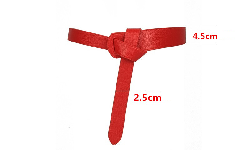 HTB11ADVKeuSBuNjSsziq6zq8pXao - Luxury Female Belt for Women red Bow design Thin PU Leather Jeans Girdles Loop strap belts bownot brown dress coat accessories