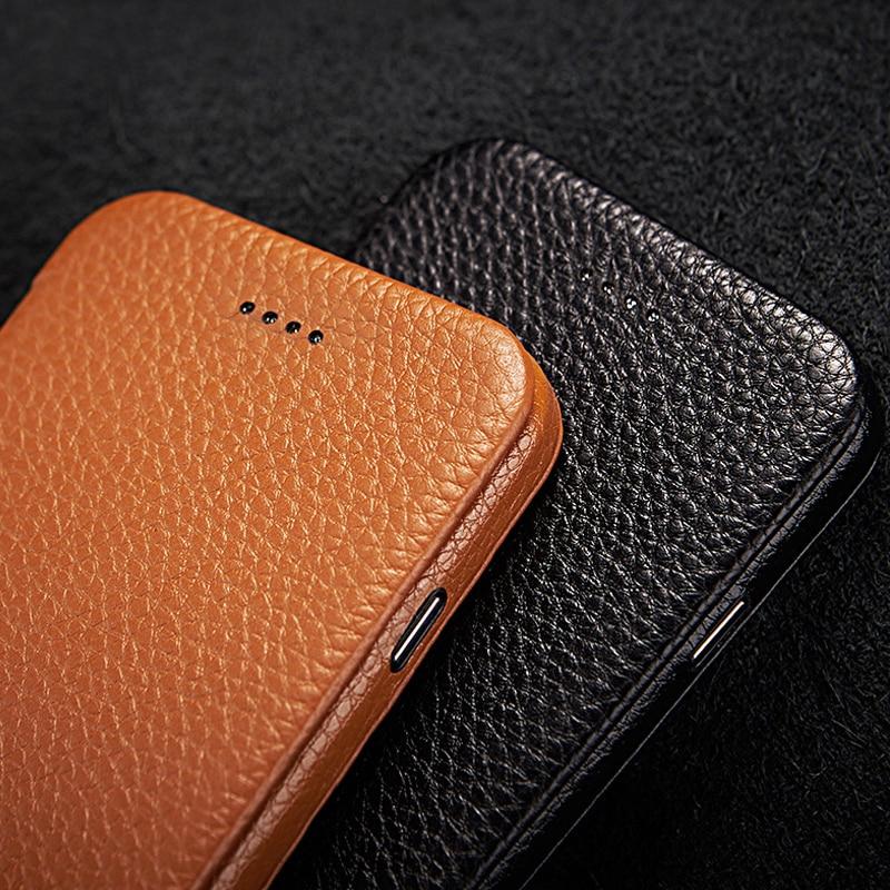 Jisoncase Coque De Protection pour iPhone 7 Cas Flip Couverture En Cuir Véritable Magnétique Anti-coup de Cas de Téléphone pour iPhone 7 4.7 Coque