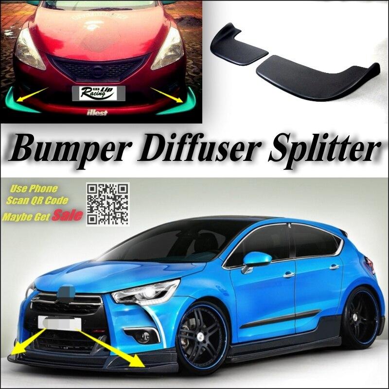 car splitter diffuser bumper canard lip for citroen ds4 ds 4 tuning body kit deflector car fin. Black Bedroom Furniture Sets. Home Design Ideas