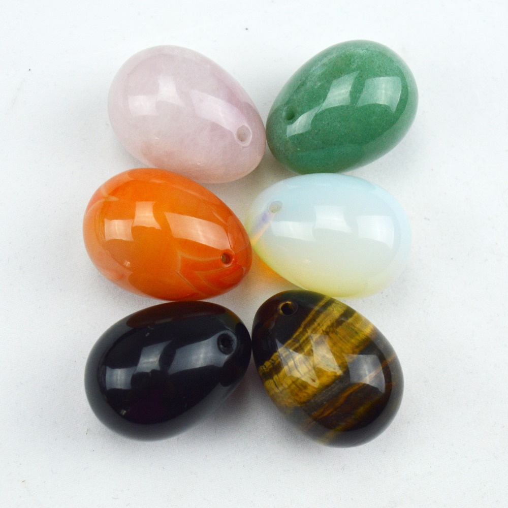 6 Pcs medium 40mm*30mm jade egg for kegel exercise chakra massage pelvic floor muscles vaginal exercise yoni  ben wa ball
