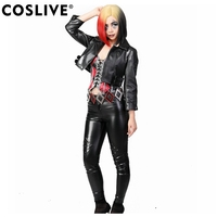 Coslive Batman The Enemy Within Cosplay Harley Quinn Full Set Costume Halloween Sexy Cool Cosplay For Girls Lady