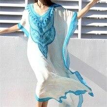 Womens Swimwear Turkish Kaftans Swimsuit Cover up Caftan Beach Long Dress