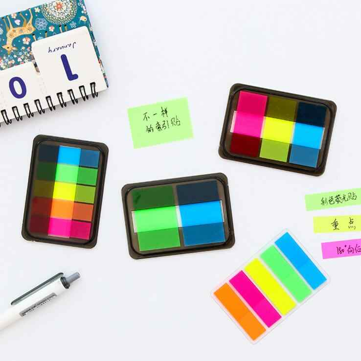 1 Piece Lytwtw's Sticky Post Filofax Memo Pads Office Supplies School Stationery Rainbow Fluorescence Index Notepad Notes