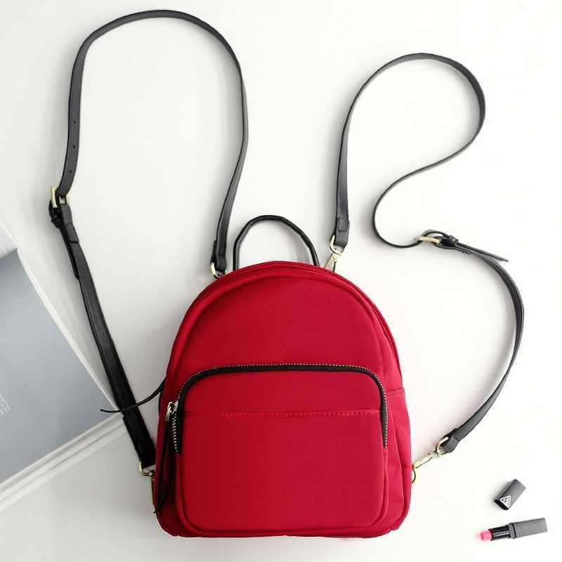 4bfb786fa517 ... Для Женщин Простой Оксфорд маленький рюкзак подростков обувь для  девочек мини Bagpack Back Pack тонкой плечевой ...