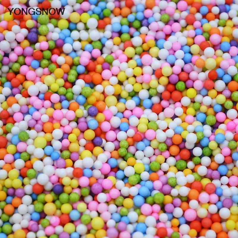 3mm/8mm Mini Foam Balls Multicolor Round Styrofoam Beads Decorative Ball DIY Craft Filler Materials Christmas Party Supplies 7Z