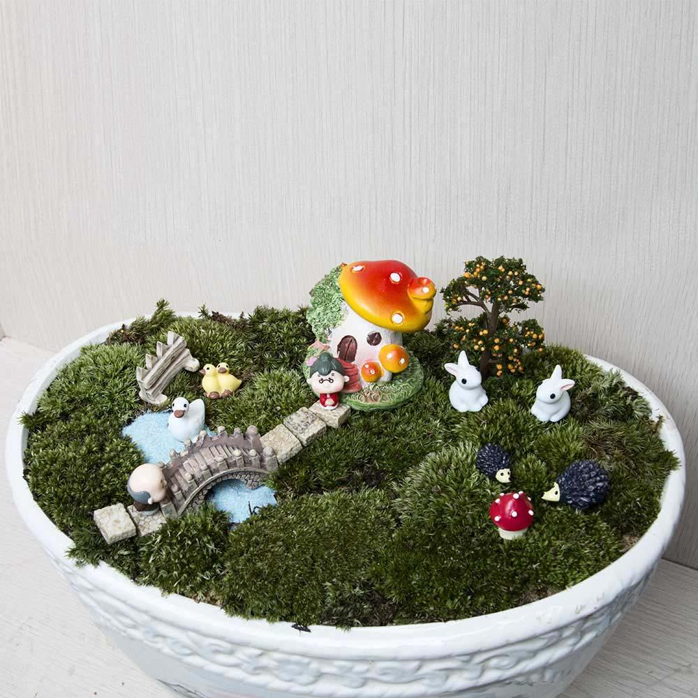18pcs / set Μικρό τοπίο σπίτι Bonsai DIY κούκλα - Διακόσμηση σπιτιού - Φωτογραφία 1
