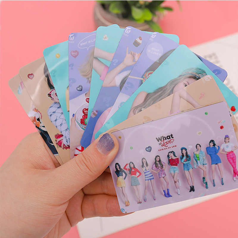 10 PCS/SET K-POP TWICE Album What Is Love Sticky Photo Cards Crystal Card Stickers  For Fans Gift