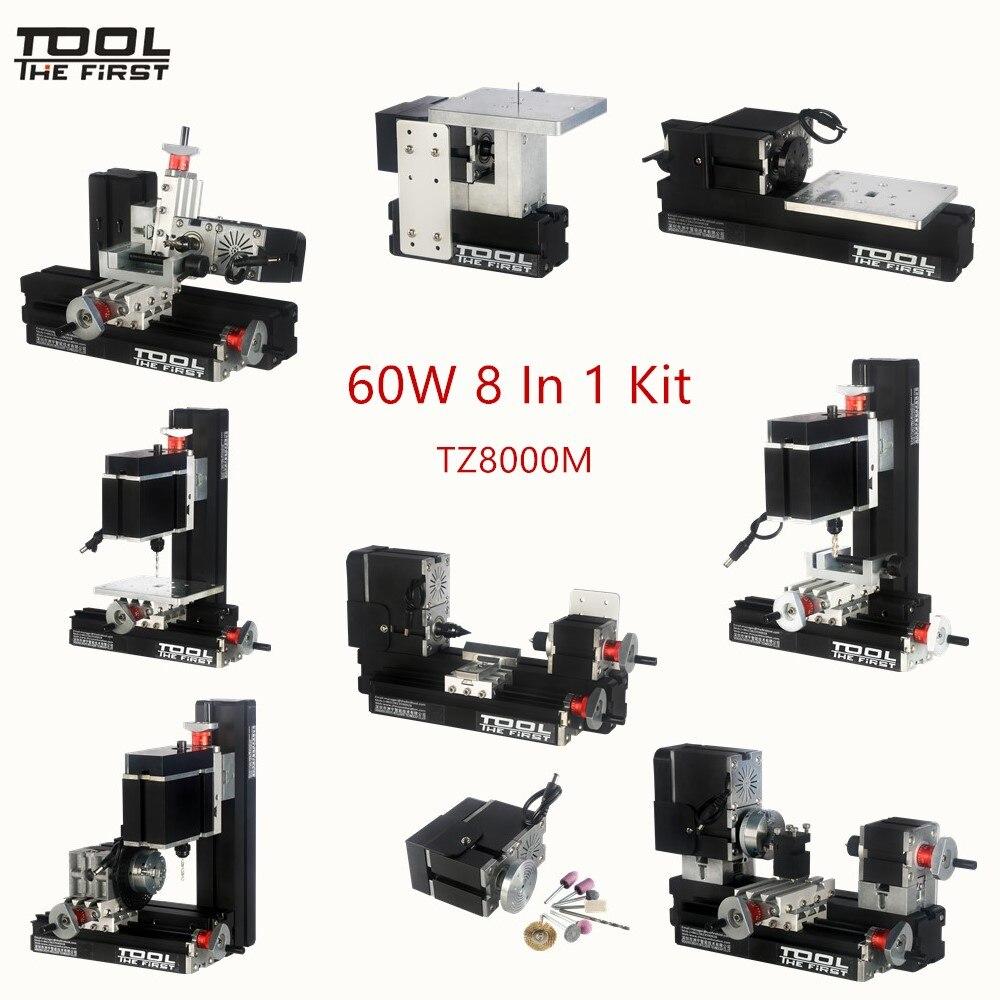 Thefirsttool TZ8000M Mini Metal 8 in 1 Machine Kit with 12000rmp Big Power 60W Motor DIY Tools Children's Education Gift