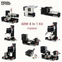 Thefirsttool TZ8000M мини-металлический 8 в 1 машинный комплект с 12000rmp большой мощностью 60 Вт мотор DIY Инструменты Детский обучающий подарок