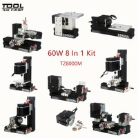 Thefirsttool TZ8000M Mini Metal 8 in 1 Machine Kit with 12000rmp Big Power 60W Motor DIY Tools Children's Education Gift