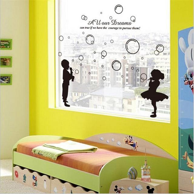 Cartoon Bubble Wall Stickers Children Home Decor Bathroom Window ...