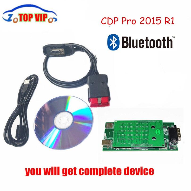 Цена за DHL Бесплатная 10 шт./лот Новинка 2017 года VCI CDP PRO 2015 R3 Keygen NEC Реле bluetooth led 3 в 1 TCS CDP Про авто диагностический инструмент сканер