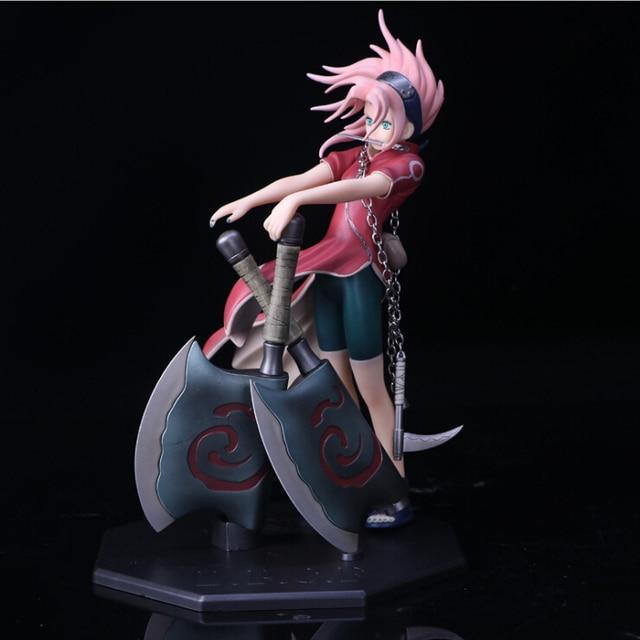 Naruto Haruno Sakura Uchiha Sasuke Fighting PVC Action Figure