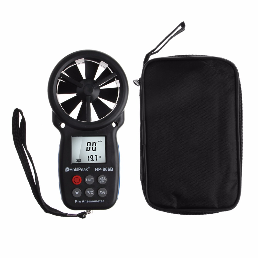 все цены на HoldPeak Anemometer Digital Anemometer Wind Speed Measurement Wind Device Handheld with LCD Backlight and Max/Min онлайн