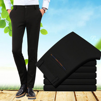 High Quality Fashion Cotton Pants Men Straight Spring And Autumn Classic Business Plus Size Casual Trousers