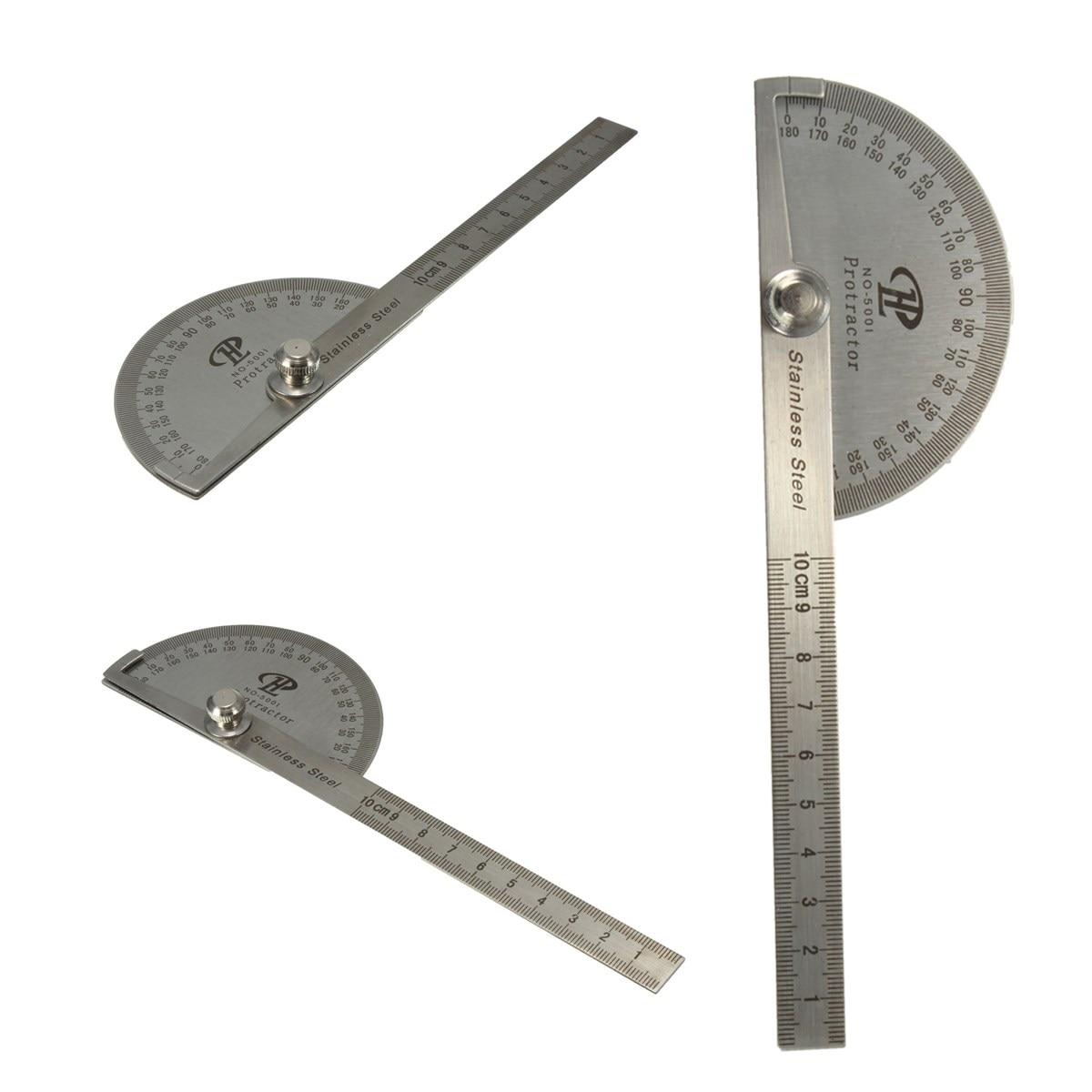 Нержавеющая стальной транспортир Угол Finder Arm измерительная круглая головка общий инструмент ремесленник правило линейка машинист инструмент-Гониометр