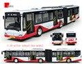 Nuevos niños toys 1:10 modelos de automóviles de aleación de aleación de autobús eléctrico doble de autobuses con aire acondicionado