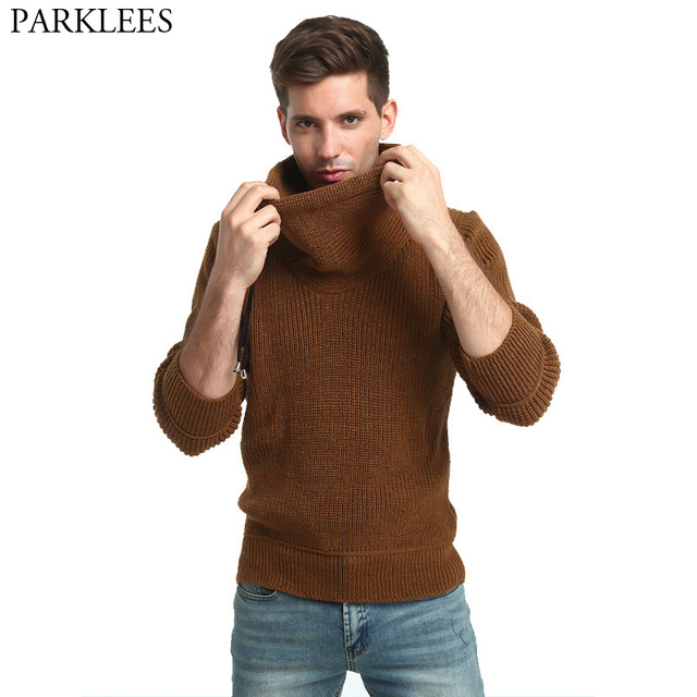 Solid Color Mens Sweaters 2017 Autumn Thicker Men Turtleneck Sweater