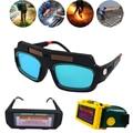 Energia solar escurecimento automático óculos de soldagem lcd proteção clareamento arco argônio soldagem gás corte proteção para os olhos