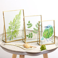 Creative Modern Photo Frames For Pictures 5/6/7 Inch Glass Photo Frame Decorative Rectangle Picture Frame Stand
