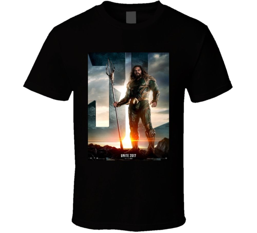 Aquaman Justice League Superhero Comic Book Movie T Shirt