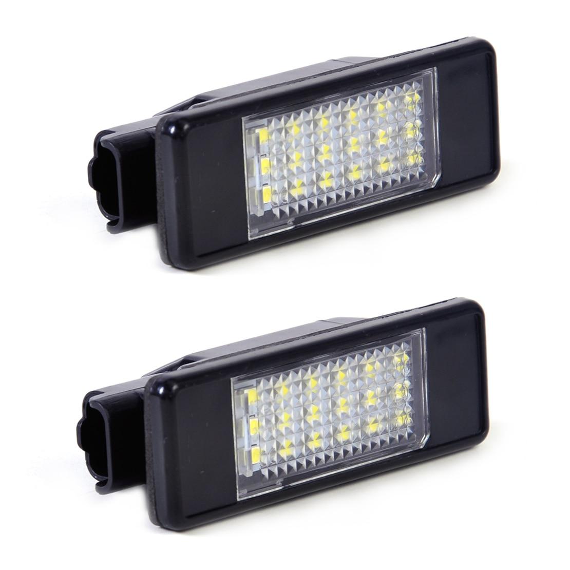все цены на  beler 2Pcs Car 18 LED License Plate Light Lamp 6340 G9 / 6340 A5 / 6340 G3 / 6340 F0 for Peugeot 207 308 406 407 Citroen C2 C3  онлайн