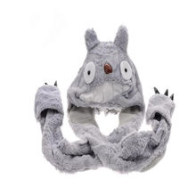 Anime Totoro Gloves Scarf Hat Plush Hat Doll Cute photo props cosplay plush toy hat Christmas Halloween birthday party dress up(China)