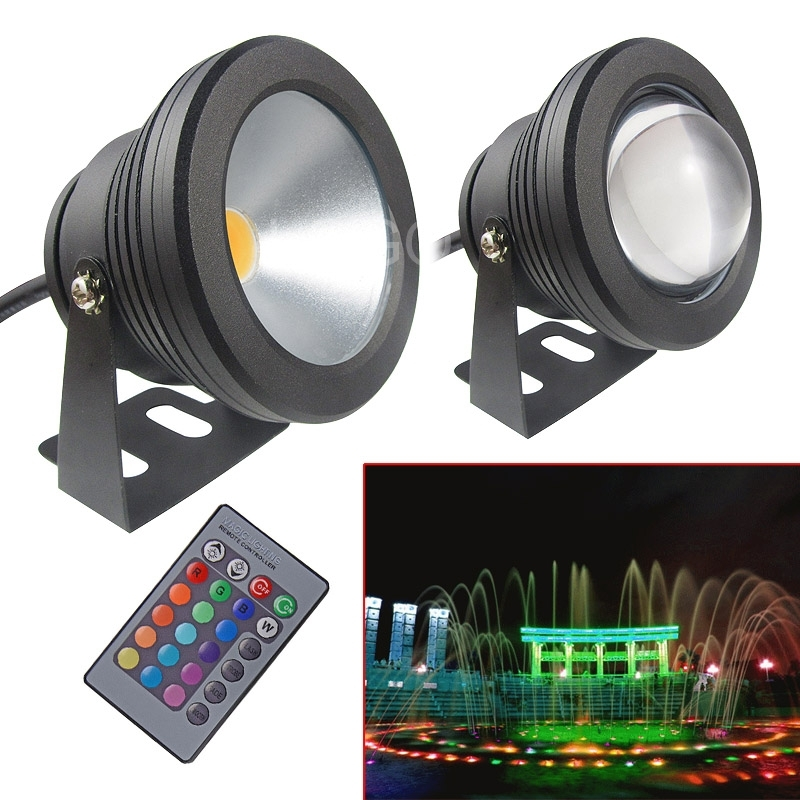 1PC 10W 12V RGB Led Light Rgb Spotlight 1000LM Waterproof IP67 Fountain Swimming Pool Lamp Lights Projection Lamp Floodlights